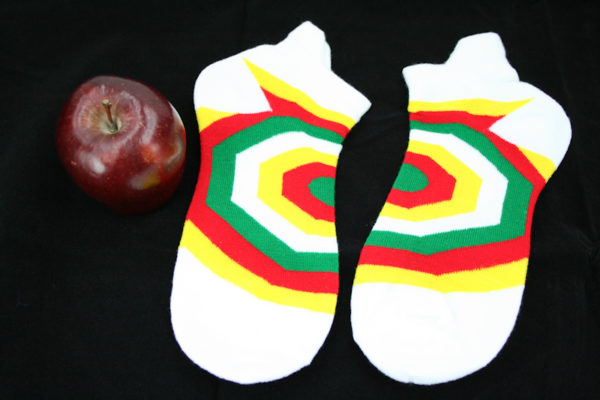 White Green Yellow Red Rasta Socks Psycho Shapes Unisex Stretchable Men