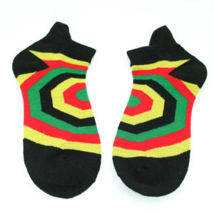 Low-cut Socks Black Geometrical All Sizes