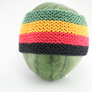 Headband Rasta Large Stripes 4 Inches