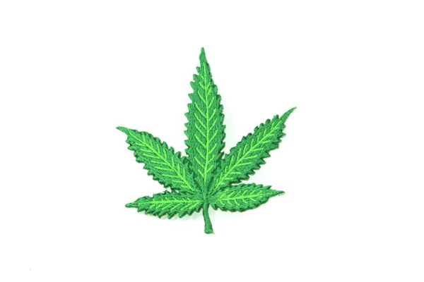 Patch Green Cannabis Leaf