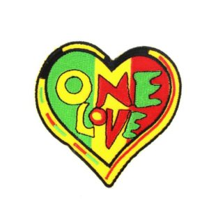 Patch Heart One Love Rasta