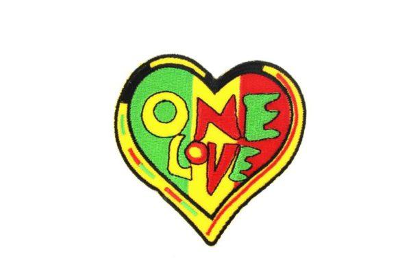 Patch Heart One Love Rasta
