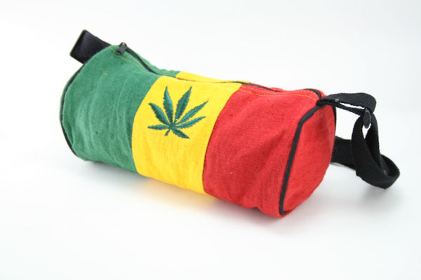 Bag Hemp Tube Small Size Cannabis Leaf