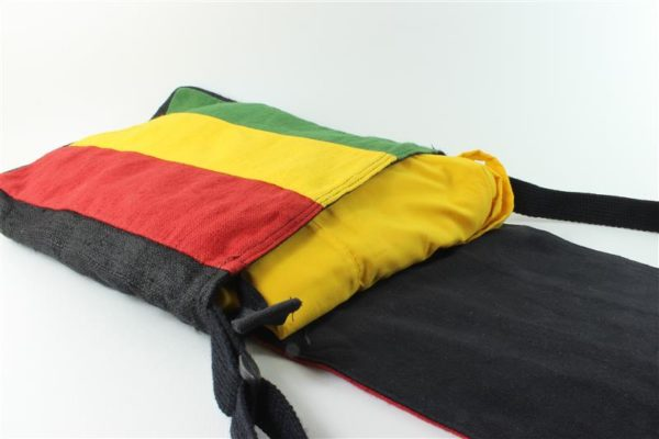 Messenger Bag Cannabis Leaf Green Yellow Red Zip