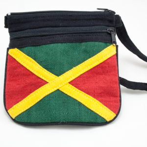 Bag Hemp Jamaica Flag Shoulder Zip