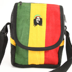 Bag Hemp Shoulder Rastaman Velcro Zip