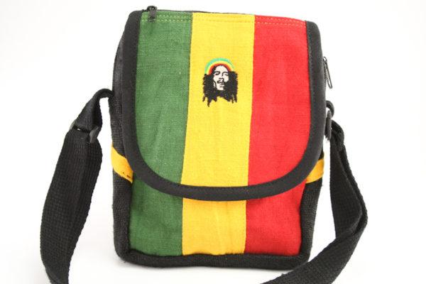 Bag Hemp Shoulder Rastaman Velcro Zip