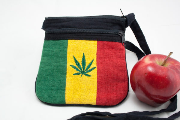 Bag Hemp Cannabis Leaf Shoulder Zip