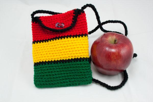 Bag Cigarettes Rasta Knitted Shoulder Button