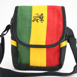 Bag Hemp Shoulder Lion of Judah Velcro Zip