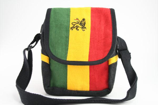 Bag Hemp Shoulder Lion of Judah Velcro Zip