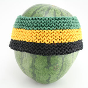Headband Jamaica Green Yellow Black 4 Inches
