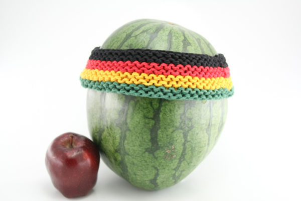 Headband Black Green Yellow Red 2 Inches