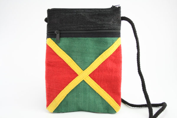 Bag Passport Hemp Jamaica Flag Zip