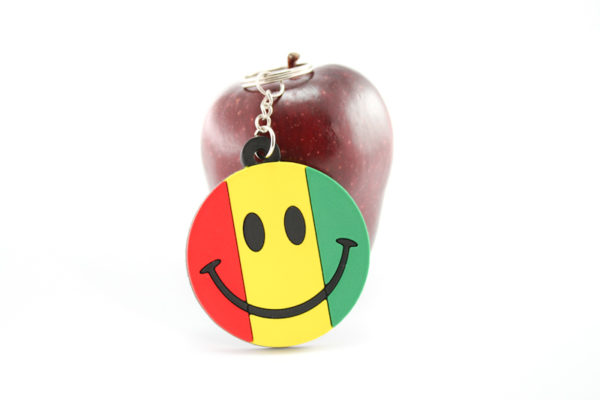 Keychain Smiley Rasta