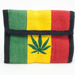 Wallet Hemp Cannabis Leaf Velcro Zip