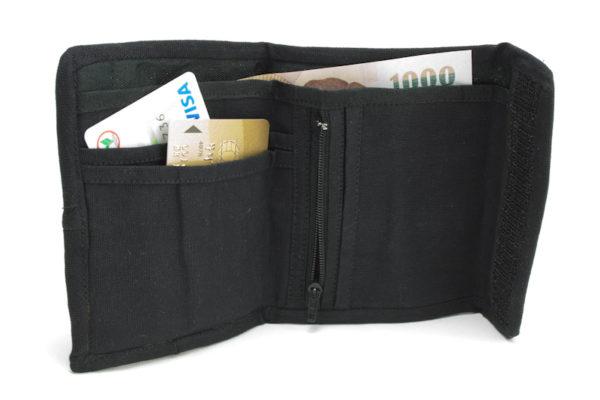 Wallet Hemp Lion of Judah Velcro Zip