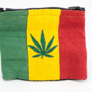 Purse Hemp Cannabis Leaf Zip