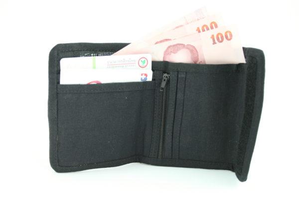 Wallet Hemp Rastaman Velcro Zip