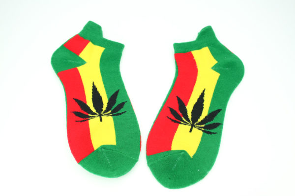 Low-cut Socks Green Cannabis All Sizes