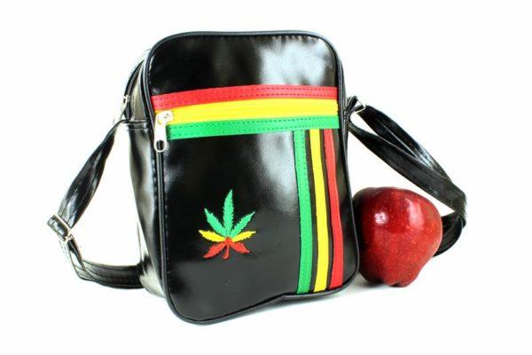 Bag Vinyl Shoulder Black Style Lacoste Sport
