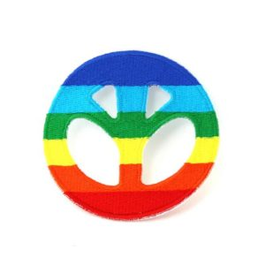 Patch Peace and Love Rasta Colors