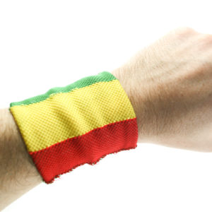 Rasta Store Rasta Sweat Wristband Green Yellow Red Stripes Rasta Colors Band