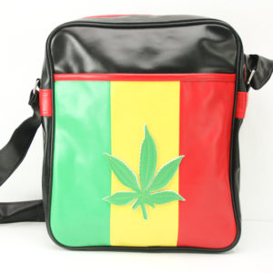 Bag Vinyl Big Size Shoulder Weed Leaf