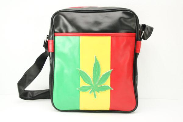 Bag Vinyl Big Size Shoulder Weed Leaf