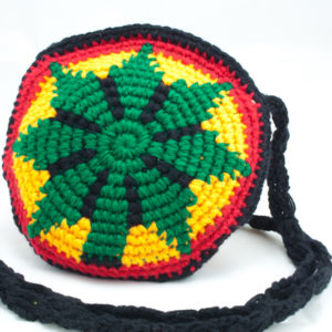 Bag Circle Knitted Ganja Shoulder Zip