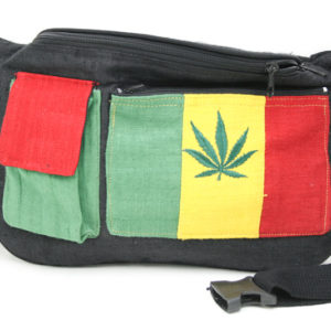 Bag Waist Hemp Pockets Cannabis Green Yellow Red