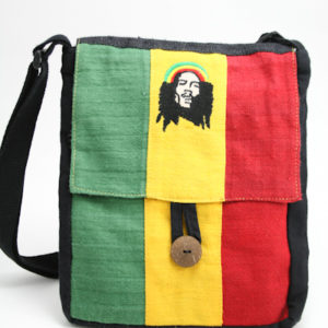 Bag Hemp Flat Shoulder Rastaman Button