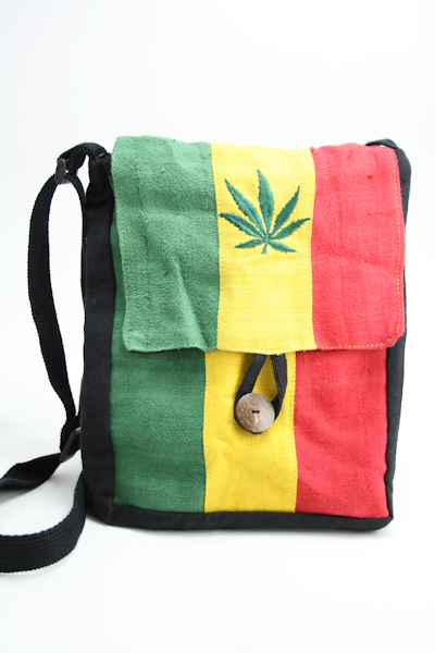 Bag Hemp Flat Shoulder Cannabis Button