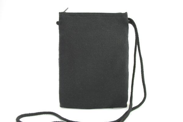 Bag Passport Black Hemp Lion of Judah Zip