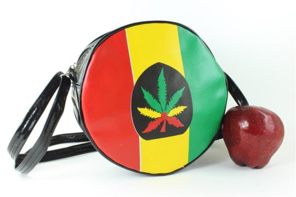 Bag Vinyl Black Circle Shoulder Marijuana