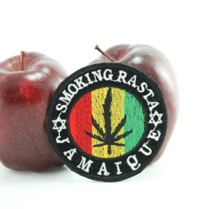 Patch Circle Smoking Rasta Jamaica