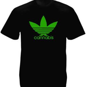 Adidas Cannabis Logo Black Tee-Shirt