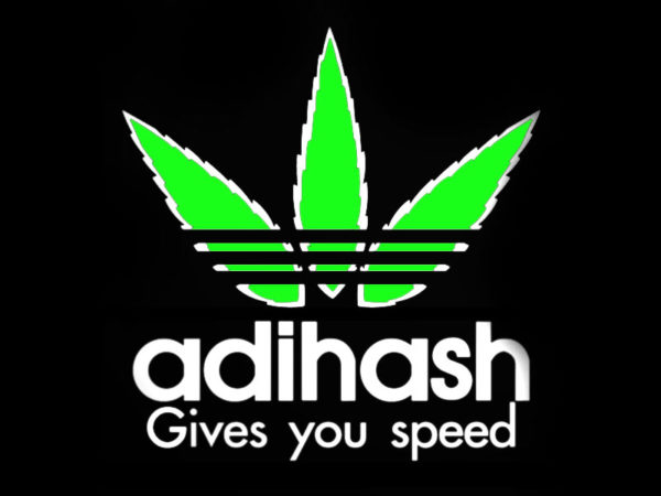 Adihash Gives you Speed Black Tee-Shirt