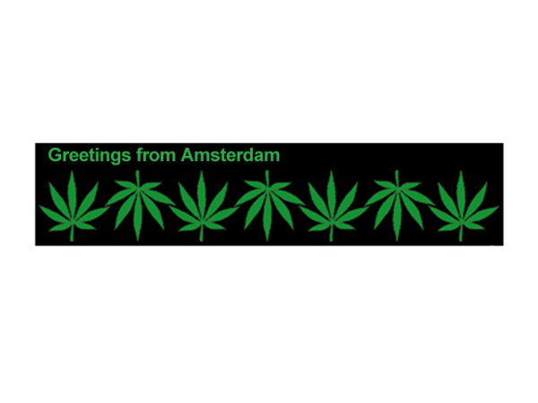 Greetings From Amsterdam Cannabis White Tee-Shirt