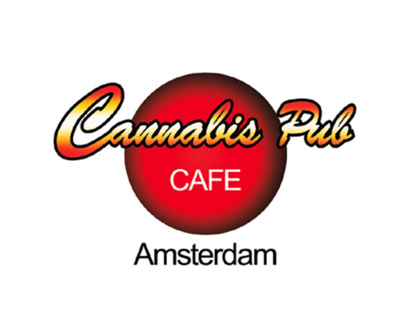 Amsterdam Cannabis Pub Cafe White Tee-Shirt