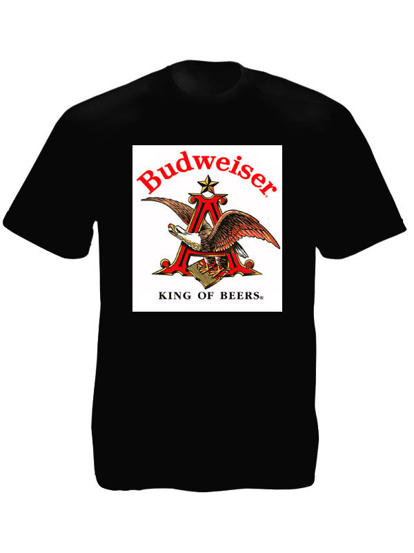 Budweiser Beer Logo Black Tee-Shirt