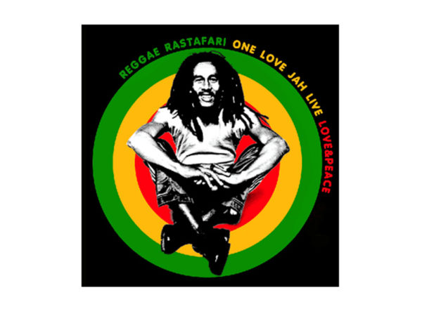 One Love and Peace Jah Live Bob Marley White Tee-Shirt