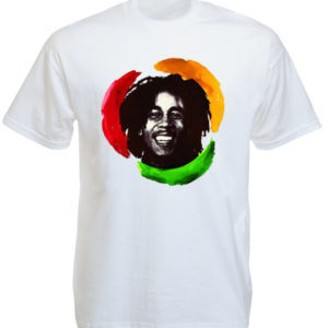 Happy Bob Marley White Tee-Shirt