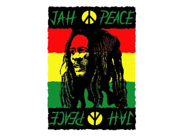 Jah Peace Bob Marley White Tee-Shirt