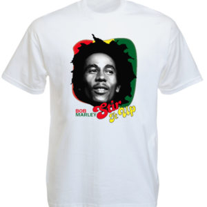 Stir It Up Bob Marley White Tee-Shirt
