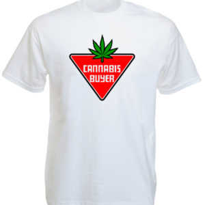 Cannabis Buyer White Tee-Shirt