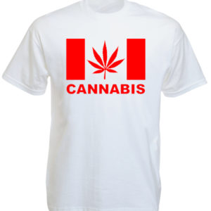 Canada Cannabis White Tee-Shirt