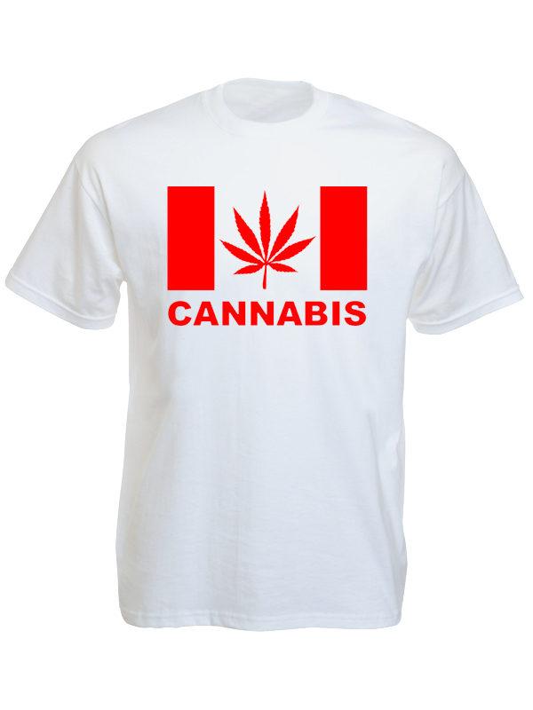Canada Cannabis White Tee-Shirt