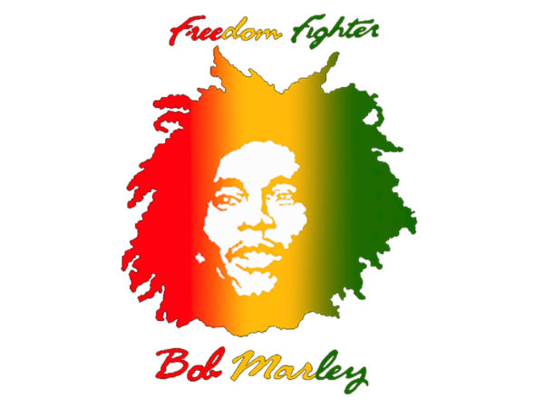 Bob Marley Freedom Fighter White Tee-Shirt