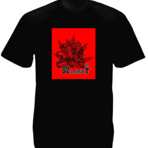 Rasta Ankh Lion Cannabis Black Tee-Shirt